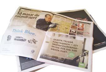 Trycka tidning